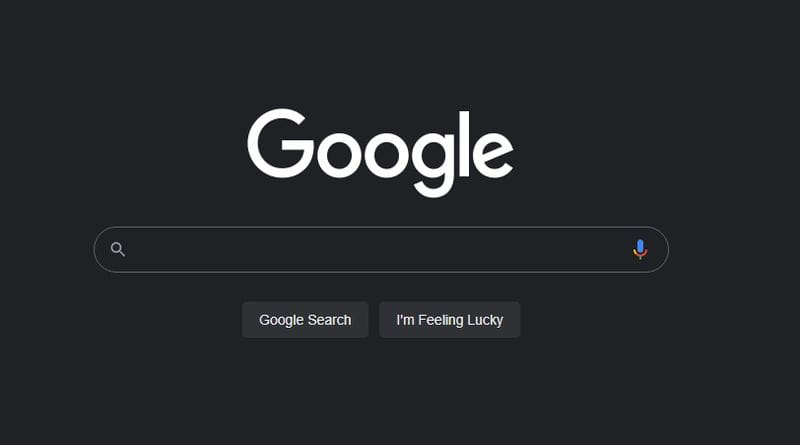 Google Search dark mode enabled
