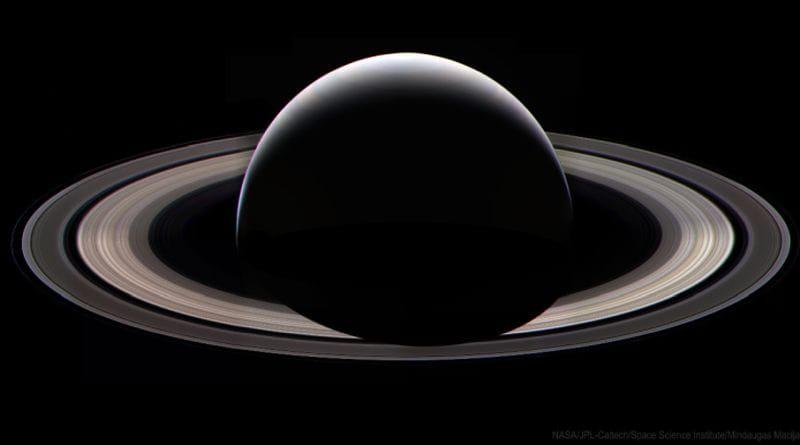 Saturn at night wallpaper
